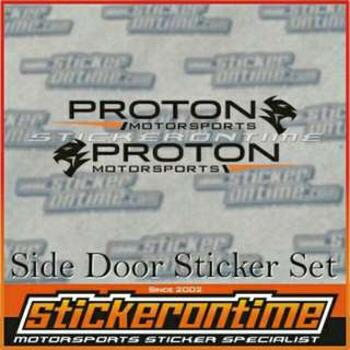 🔥Hot Sale!!🔥Car SideDoor Sticker Set utk Proton Pesona BLM IRIS Neo Satria Gen2 Waja R3