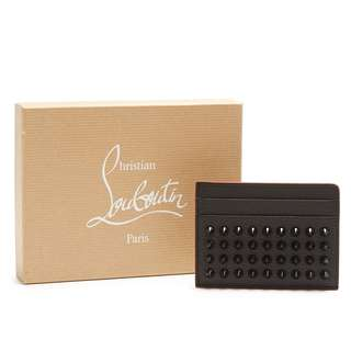 CHRISTIAN LOUBOUTIN  Kios Spike-Embellished Leather Cardholder