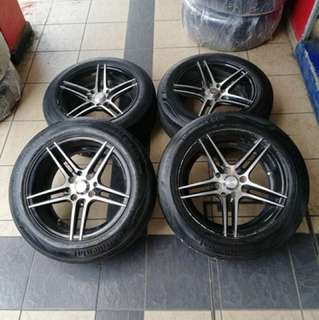 Vossen cv5 15 inch sports rim vios tyre 70% . Masak maggie kuah kari, ini rim confirm mari!!!