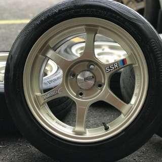 Ssr type c 15 inch sports rim myvi tyre 70% . Bijak pandai ulat buku, u pakai confirm kawan kawan you cemburu!!!