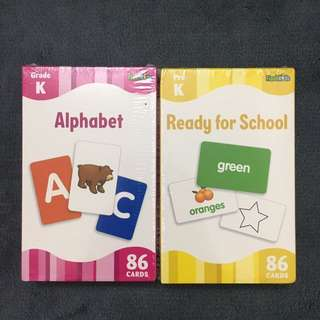 Alphabet and ready for school Flash Cards