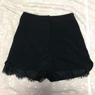 SSD Lace Trim Shorts (Black) | Size M