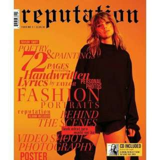 Reputation Magazine with CD Target Exclusive by Taylor Swift