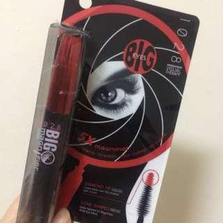 🚚 1028 溫水可卸睫毛膏 超級大眼放大鏡睫毛膏 紅色筆蓋