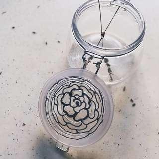 Rose Jar - Customized / Personalized Gift Under $10