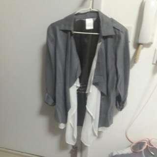絲質灰白色外套 非常柔軟