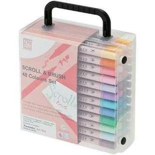Zig Memory System Scroll & Brush 48 color set