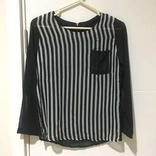 Stripe Chiffon Shirt