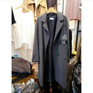 🚚 ✨正韓現貨🎉個性徽章長版西裝外套