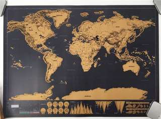 Original World Map Scratch Off