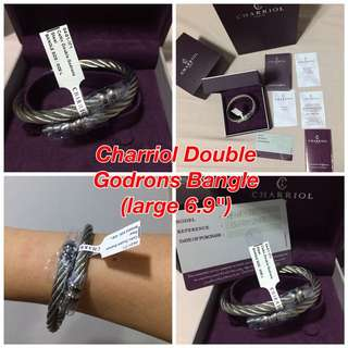 BNEW Charriol Bangle Double Godrons (large)