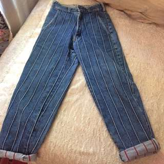 vintage 1980s high waisted jeans size xxs