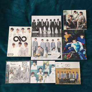 Infinite Japanese Albums