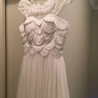 Stunning unique formal bridal reception themed dress NWOT