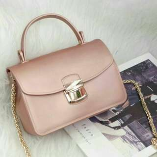 Stylish Jelly Bag Soft Pink Color