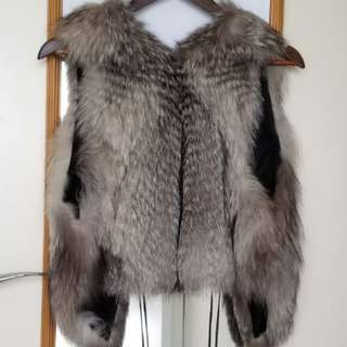 全新狐狸毛背心 Real fox fur vest