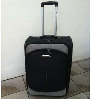 Echolac 25 inches luggage with two wheels with combination lock.  Dimension 62 x 26 x 48cm.