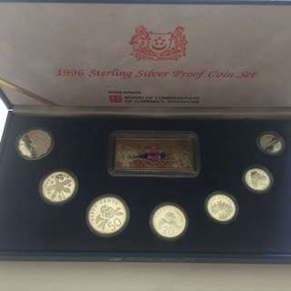 Singapore Uncirculated silver proof coin set Year 1996 50% sale