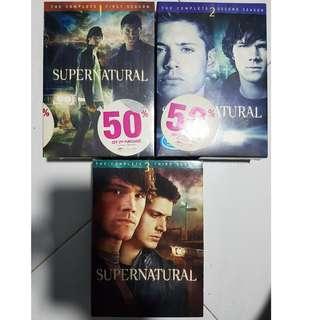 SUPERNATURAL Season 1,2,3 DVD