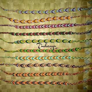 Macramé Friendship Bracelets (Design: Leaves)