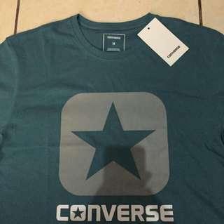 T-shirt Converse Logo (Tosca and Black)