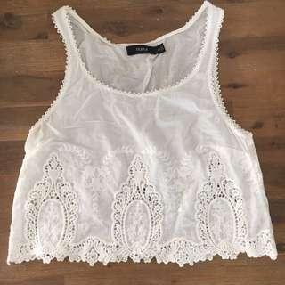 Nunui White Lace Crop 6