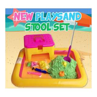 Kinetic Sand Stool Set With Multiple Colors