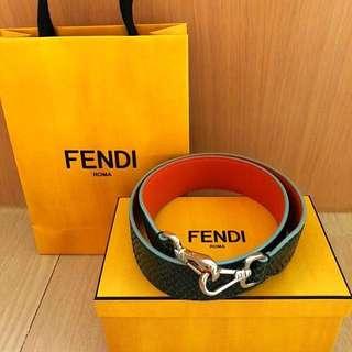 *降價*FENDI Python Strap U *100%全新正品*(Green python/ Orange calf leather) 綠色蟒蛇皮/橙色小牛皮肩帶 *割價*