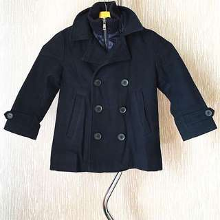 Zara Boys Navy 6 Button Winter Jacket