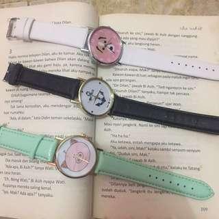 Jam tangan 100 get 3 pcs
