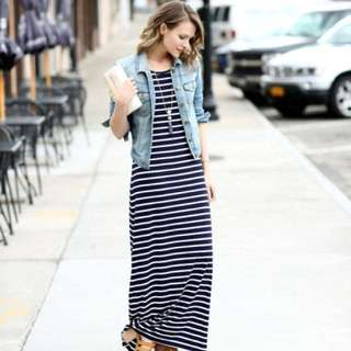Zara Inspired Simple Stripe Dress