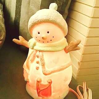《免運費》 聖誕 雪人 創意造型 小夜燈 桌燈 婚禮佈置