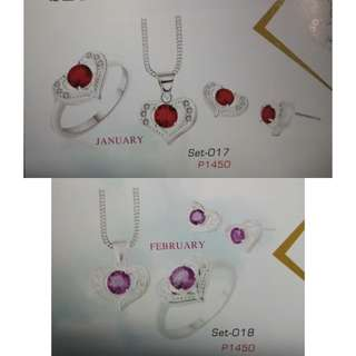 One Set silver jewelries