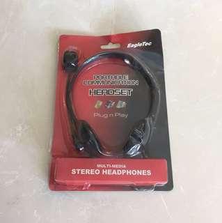EagleTec Portable communication headset multi media stereo headphones