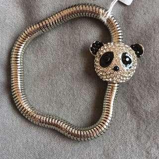 Butler and Wilson Crystal Panda Bracelet