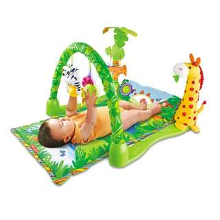 Playmat with Toys for Baby  - Rainforest Playgym