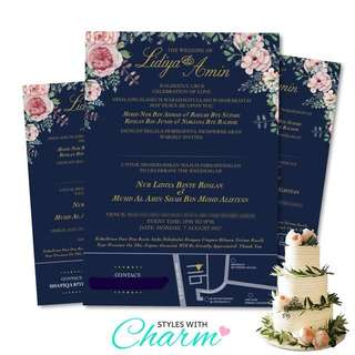 Invitation Card for Wedding/Engagement/Anniversary