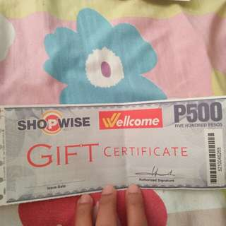 500 GC for shopwise/rustans