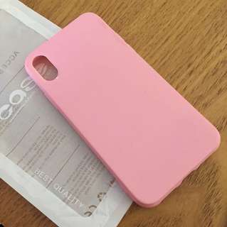 📱iPhone X soft case Pink