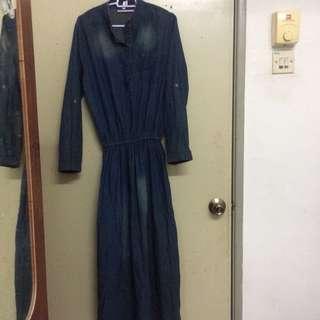 Jeans long dress
