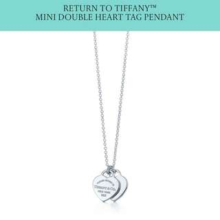 Return to Tiffany silver double heart tag 銀心頸鏈