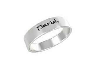 Customized Silver Ring With Name. (stainless)