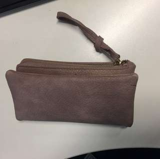 Wristlet wallet with pouch