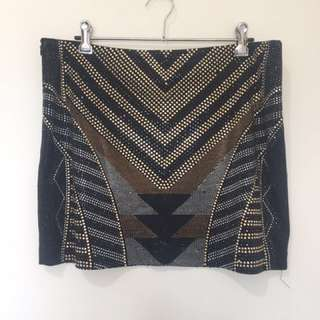 Fate detailed mini skirt, L