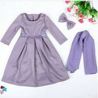 [ready stock] Jubah Budak - Purple