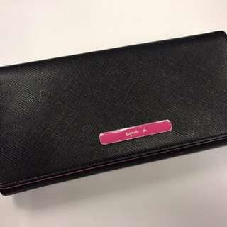 Agnes b 黑色 長銀包 長形銀包 wallet