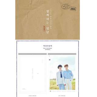 [PRE-ORDER] BTS 2018 Seasons Greetings Wall Calendar <Official Limited Edition> + Free Gifts