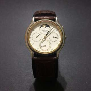VINTAGE SEIKO CHRONOGRAPH MOONPHASE QUARTZ WATCH