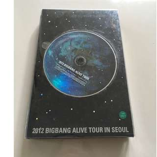 BIGBANG - 2012 Big Bang Live Concert - Alive Tour in Seoul (DVD+Photobook)