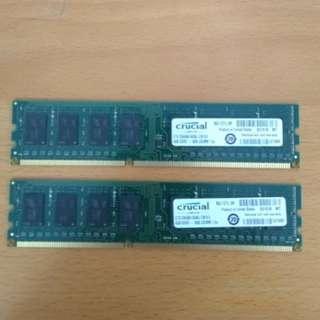 Desktop Crucial DDR3 4GB RAM